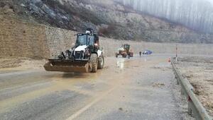 Demirköy'de şiddetli yağış sonrası toprak kayması