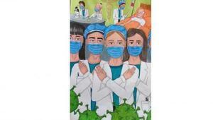 Lüleburgazlı Asya, Sağlık Çalışanlarına Vefa konulu resim yarışmasında 3üncü oldu