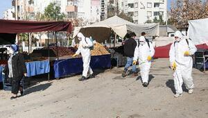 Esnafa sağlık kiti, pazarlara dezenfekte