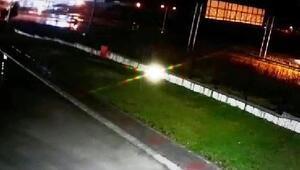 3 kişinin yaralandığı kaza güvenlik kamerasına yansıdı
