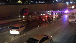 Otomobil hafif ticari araca çarptı: 1 yaralı