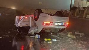 Nevşehirde kontrolden çıkan otomobil takla attı: 1 ölü, 2 yaralı