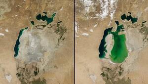İnsanlığın kendi eliyle yok ettiği göl Haritadan tamamen silinmek üzere...