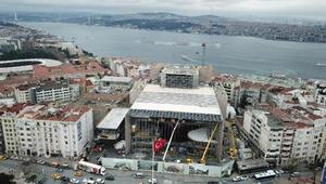 AKM inşaatının yüzde 80i tamamlandı Son durumu havadan görüntülendi