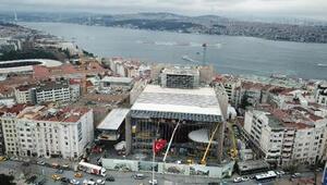 Atatürk Kültür Merkezinde son durum havadan görüntülendi