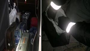 Malatyada yolcu otobüsünde 5 kilo esrara 8 gözaltı