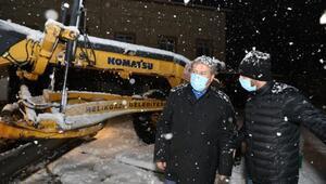 Melikgazide karla mücadele çalışması
