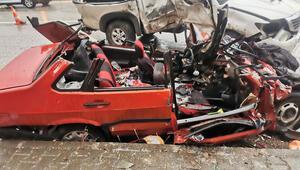 Araç bu hale geldi... Tuncelide feci kaza: 2 ölü