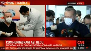 Cumhurbaşkanı Erdoğan, hastane çıkışı gazetecilerin karşısına geçti