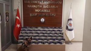 Van polisi minibüsü durdurdu, çantalardaki 51 kilo eroini Şila buldu