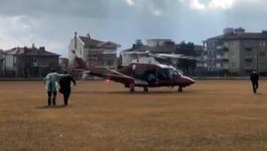 Ambulans helikopter, pulmoner emboli hastası için havalandı
