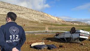 Diyarbakırda feci kaza Otomobil takla attı: 1 ölü, 5 yaralı