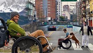 Dünyayı tekerlekli sandalyesiyle geziyor... Güney Amerika'dan yola çıktı şimdi ise...
