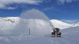 Kar kalınlığının yarım metre olduğu Tuncelide, küreme makineleriyle yoğun mesai