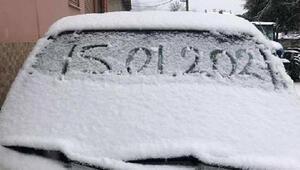 Ödemişe yılın ilk karı yağdı
