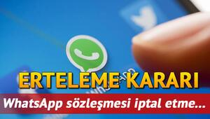 WhatsApp gizlilik sözleşmesi iptal mi edildi Tartışmalı sözleşme için WhatsApp geri atım attı