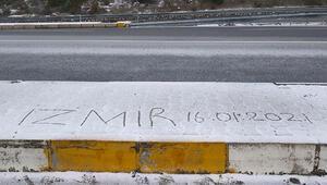 İzmirde kar yağışı sürprizi