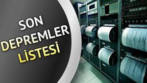 Elazığ, İzmir ve Çanakkalede deprem - İşte 17 Ocak son depremler verileri...