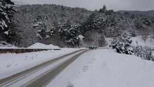 Çanakkalede kar yağışı etkili oldu