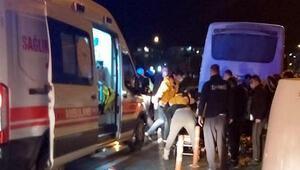 Lüleburgazda kaza yapan kurye ağır yaralandı