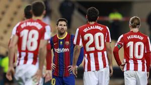 İspanya Süper Kupasını Athletic Bilbao kazandı Messi ilk kez kırmızı kart gördü
