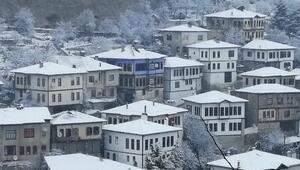 Safranboluda kar güzelliği... Harika görüntüler ortaya çıktı