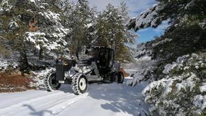 Elazığda 94 köy yolu, kar nedeniyle ulaşıma kapandı