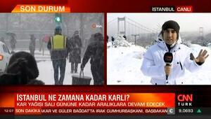 İstanbulda kar yağışında son durum... Bünyamin sürmeli açıkladı