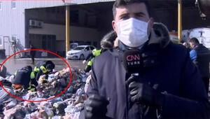 İstanbul'da ilginç anlar Belediye ekipleri çöplerin arasında altın arıyor…