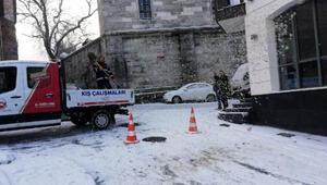 Fatih'te kış çalışmaları aralıksız sürüyor