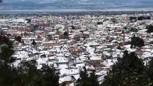 Burdurda kar yağışı etkili oldu