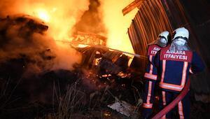 Ankaralı evde kaldı çıkan yangın azaldı
