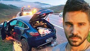 Arabası takla attı Sayışman ölümden döndü...