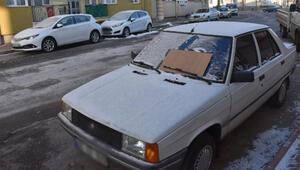 Sivas eksi 17 derece ile buz kesti