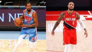 NBAde haftanın oyuncuları Lillard ve Durant