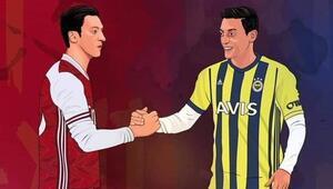 Mesut Özilden Fenerbahçe ve Arsenal paylaşımı