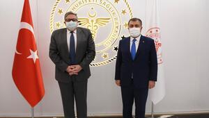 Son Dakika: Sağlık Bakanı Fahrettin Kocadan büyükelçilerle görüşmeler