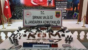 Şırnakta kaçakçılık operasyonu; silahlar ve mühimmat ele geçirildi