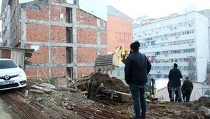 Şişlide hareketli dakikalar İstinat duvarı çöktü, doğalgaz borusu patladı