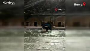 Donmuş süs havuzu üzerinde yürürüm iddiası hüsranla bitti