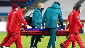 Ayak bileğinde kırık olan Trabzonsporlu Abdülkadir Ömür, tedavi için İstanbul'da