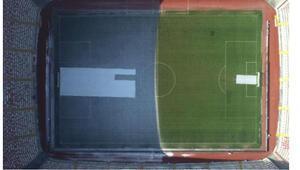 Sivasspor-Fenerbahçe maçı öncesi ilginç görüntü Yeni 4 Eylül Stadı...