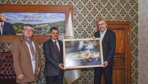 Karacabey Belediye Başkanı Özkan, Balıkesirde temaslarda bulundu