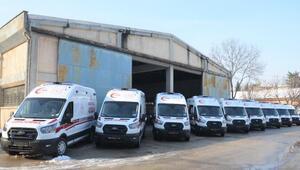 Bursaya 10 ambulans daha geldi