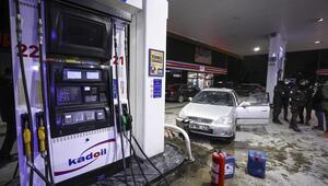Alkollü sürücü benzinliği birbirine kattı