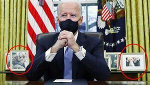 ABD Başkanı Joe Biden göreve başladı... Oval Ofis fotoğraflarında dikkat çeken detaylar