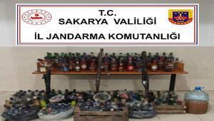 Sakarya'da 227 şişe kaçak içki ele geçirildi