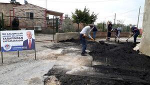 Akdenizde asfalt, kaldırım ve engelli rampası çalışmaları sürüyor