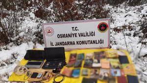 Son Dakika: Osmaniye'de, PKK sığınağında patlayıcı ve örgütsel doküman ele geçti