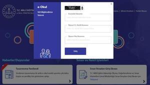 e-Okul VBS giriş ve karne görüntüleme ekranı